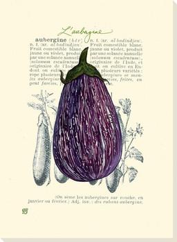 L'Aubergine Eggplant Wrapped Canvas Giclee Print Wall Art