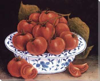 Still Life of Tomatoes Wrapped Canvas Giclee Print Wall Art