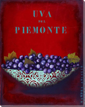 Uva di Piedmont Grapes Wrapped Canvas Giclee Print Wall Art
