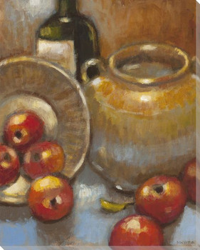Bountiful Harvest Apples Wrapped Canvas Giclee Print Wall Art