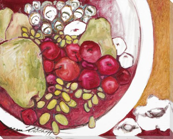 Always Plenty Bowl of Fruit Wrapped Canvas Giclee Print Wall Art