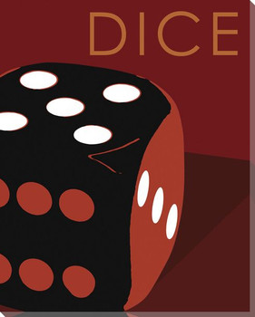 Dice Wrapped Canvas Giclee Print Wall Art