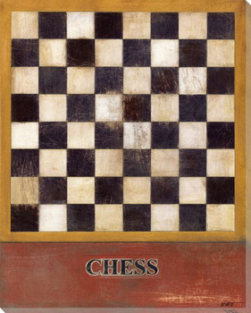 Chess Board Wrapped Canvas Giclee Print Wall Art