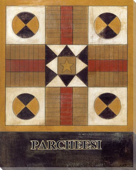 Parcheesi Board Wrapped Canvas Giclee Print Wall Art