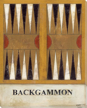 Backgammon Board Wrapped Canvas Giclee Print Wall Art