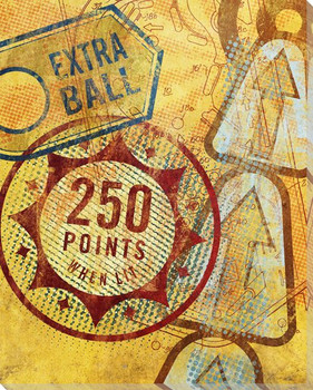 Extra Ball Pinball Wrapped Canvas Giclee Print Wall Art