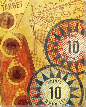 Ten Points Pinball Wrapped Canvas Giclee Print Wall Art