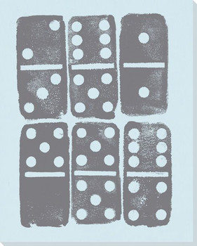 Ink Pressed Dominoes Wrapped Canvas Giclee Print Wall Art