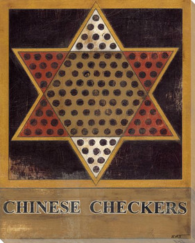 Chinese Checkers Board Wrapped Canvas Giclee Print Wall Art