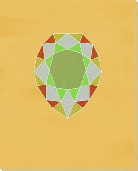 Graphic Gemstone Pear Cut Wrapped Canvas Giclee Art Print Wall Art