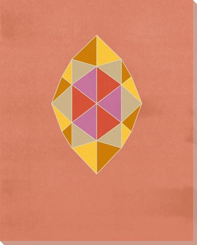 Graphic Gemstone Marquise Cut Wrapped Canvas Giclee Art Print Wall Art
