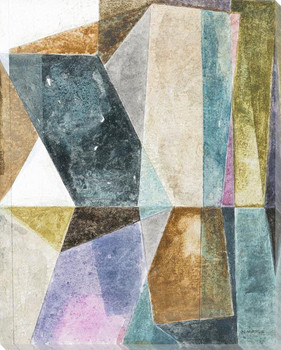 Expansion Geometric Wrapped Canvas Giclee Art Print Wall Art