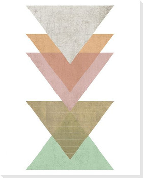 Stacked Triangles Wrapped Canvas Giclee Print Wall Art