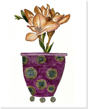 Purple Vase Wrapped Canvas Giclee Print Wall Art