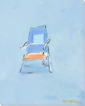 Blue Back Chair Wrapped Canvas Giclee Print Wall Art