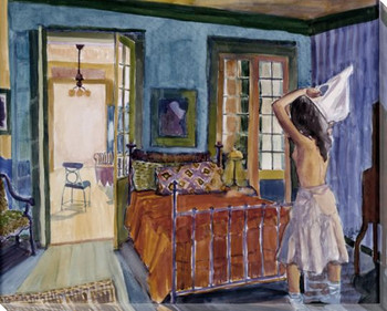 Kathryn's Bedroom Wrapped Canvas Giclee Print Wall Art
