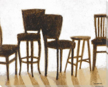 Sit Assorted Chairs Wrapped Canvas Giclee Print Wall Art