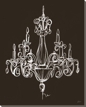 Elegant Chandelier I Wrapped Canvas Giclee Print Wall Art