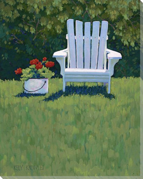 Adirondack Chair Outdoor Living Wrapped Canvas Giclee Print Wall Art
