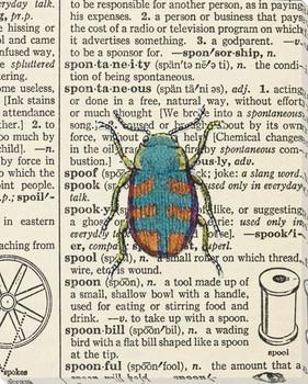 Spool Bug Wrapped Canvas Giclee Print Wall Art