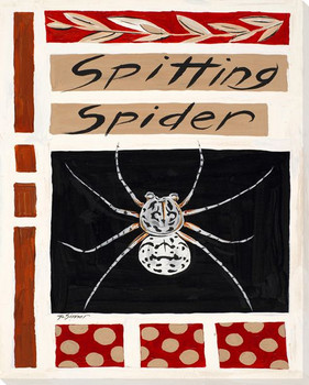 Spitting Spider Wrapped Canvas Giclee Print Wall Art