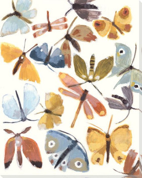 Winged Insects I Wrapped Canvas Giclee Print Wall Art