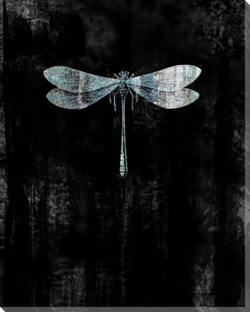 Blue Wings Dragon Fly Wrapped Canvas Giclee Print Wall Art
