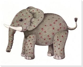 Stuffed Elephant Wrapped Canvas Giclee Print Wall Art