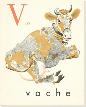 V. Vache Wrapped Canvas Giclee Print Wall Art