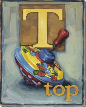 T for Top Wrapped Canvas Giclee Print Wall Art