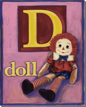 D for Doll Wrapped Canvas Giclee Print Wall Art