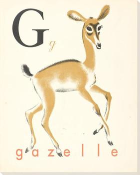 G. Gazelle Wrapped Canvas Giclee Print Wall Art