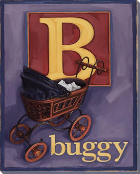 B for Buggy Wrapped Canvas Giclee Print Wall Art