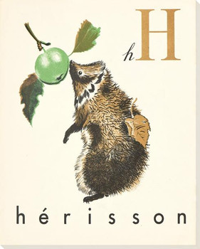 H. Herisson Wrapped Canvas Giclee Print Wall Art