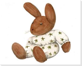 Stuffed Rabbit Wrapped Canvas Giclee Print Wall Art