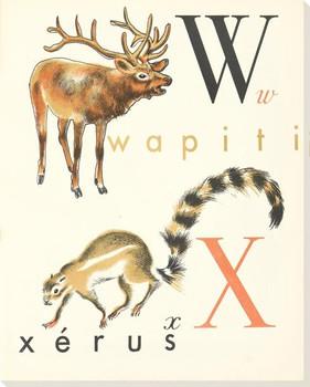 W. X. Wapiti Xerus Wrapped Canvas Giclee Print Wall Art