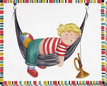 Slumber with Trumpet Wrapped Canvas Giclee Print Wall Art