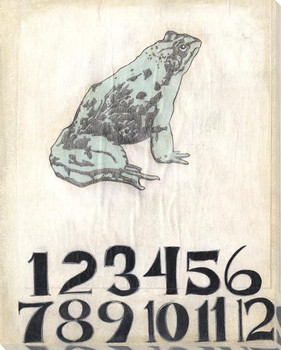 Teaching Aids Numbers Frog Wrapped Canvas Giclee Print Wall Art