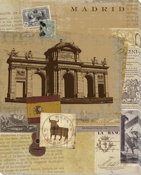 Madrid Wrapped Canvas Giclee Print Wall Art