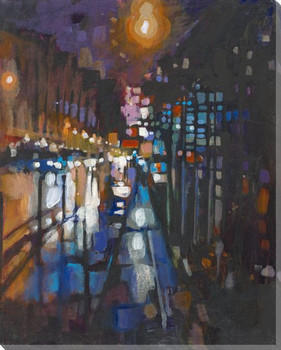 Paris Night Wrapped Canvas Giclee Print Wall Art