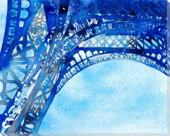Eiffel Tower Wrapped Canvas Giclee Print Wall Art
