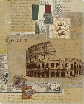 Rome Colosseum Wrapped Canvas Giclee Print Wall Art