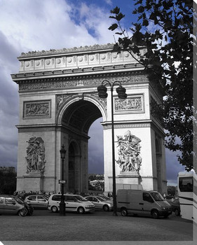 Arc de Triomphe Wrapped Canvas Giclee Print Wall Art