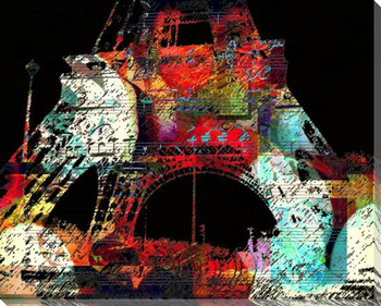 Eiffel Towers 1 Wrapped Canvas Giclee Print Wall Art