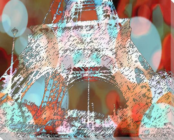Eiffel Towers 2 Wrapped Canvas Giclee Print Wall Art