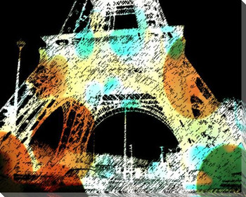 Eiffel Towers 3 Wrapped Canvas Giclee Print Wall Art