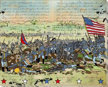 Gettysburg Right Wrapped Canvas Giclee Print Wall Art