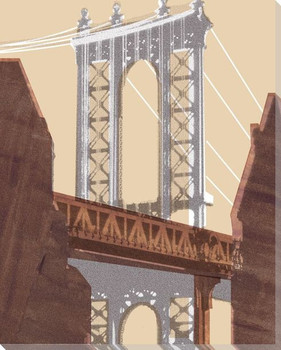 Manhattan Bridge Wrapped Canvas Giclee Print Wall Art