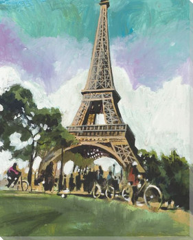 Tour Eiffel Tower Wrapped Canvas Giclee Print Wall Art