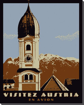 Austria Travelogue Wrapped Canvas Giclee Print Wall Art